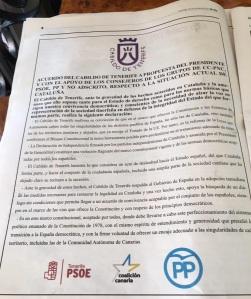 Campaña publicitaria dudosa sobre Cataluña, Podemos Cabildo Tenerife (30.11.17)
