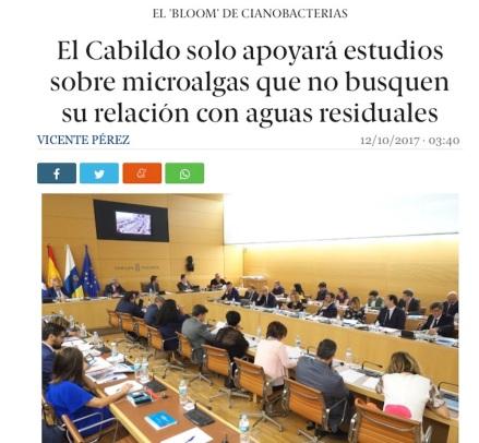 Noticia completa en http://diariodeavisos.elespanol.com/2017/10/cabildo-solo-apoyara-estudios-microalgas-no-buscan-vincularlas-aguas-residuales/