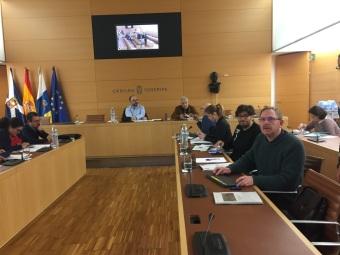 comision insular sostenibilidad y medio ambiente cabildo tenerife, con fernando sabate y julio concepcion, podemos tenerife (enero 2017)