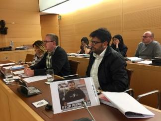 comision plenaria cabildo tenerife, reivindicacion podemos tenerife libertad expresion stop represion, con fernando sabate y julio concepcion (abril 2018)