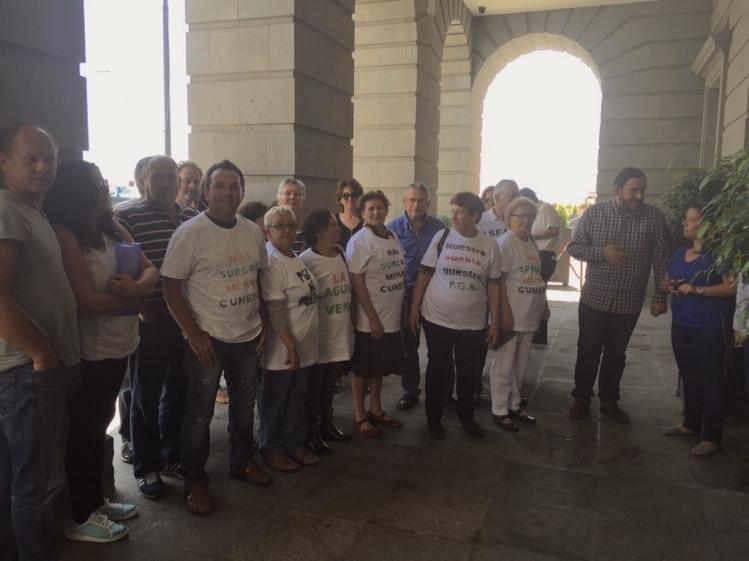 defensa suelo agricola y zonas verdes santa cruz, problemas pgo, con unidos se puede en cabildo tenerife (junio 2016)