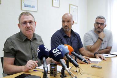 propuestas contra vertidos valle gúimar, con representantes iu, si se puede y grupo insular podemos tenerife, rueda de prensa en cabildo tenerife (2017)