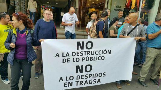 protesta contra despidos tragsa