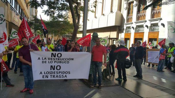 protesta personal tragsa tenerife, 26.01.16