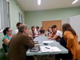 reunion antidesahucios no desahucios en la laguna, con unidos se puede, podemos cabildo tenerife, colectivos y ciudadania afectada problemas vivienda (2015)