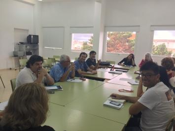 reunion coordinacion podemos y plataforma defensa sanidad publica tenerife, julio concepcion
