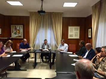 reunion elaboracion mocion no via exterior y defensa suelo agricola la laguna, podemos cabildo tenerife (2016)