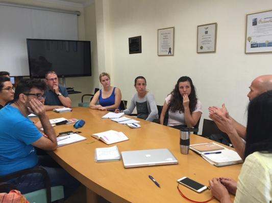 reunion grupo insular podemos cabildo tenerife y plaforma en defensa sanidad publica tenerife, con julio concepcion y mila hormiga (2015)