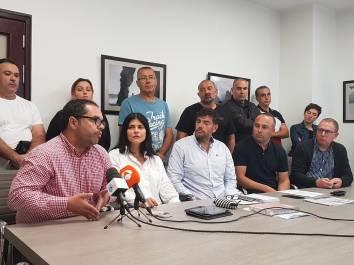 rueda prensa representantes sindicales casinos tenerife y grupo podemos cabildo tenerife, no privatizacion casinos (octubre 2018)