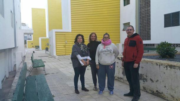 visita anton guanche, familias y fernando sabate (podemos)